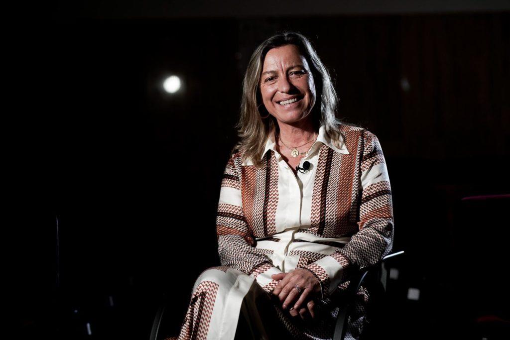 Isabel Albás durante la entrevista. FOTO: Miguel Valverde