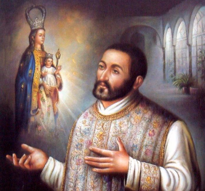 Representación pictórica del Padre Cosme