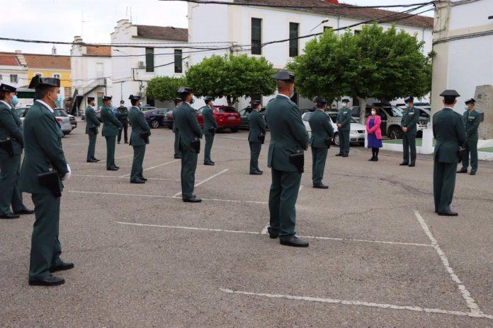 Acto de presentación de los nuevos guardias civiles que se incorporan a la Comandancia de Córdoba