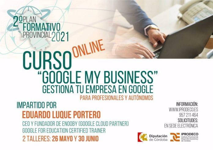 Cartel del curso sobre la herramienta Google My Business