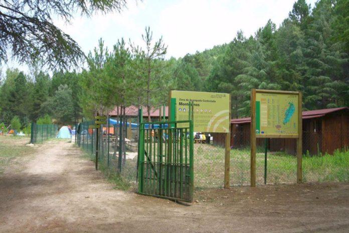 Una zona de acampada