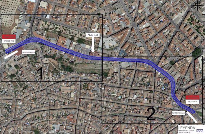 El tramo de la N-432A cedido por el Ministerio de Transportes al Ayuntamiento de Baena
