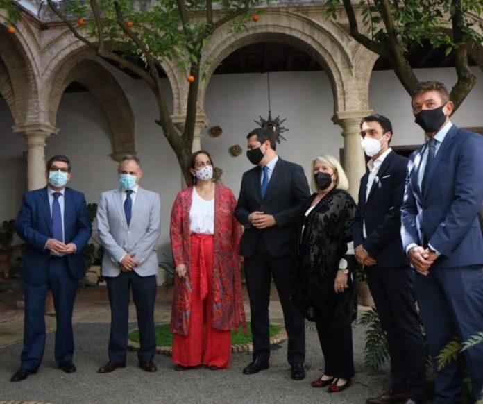 Autoridades en la presentación del vídeo promocional 'Córdoba es Joya', realizado por la Asociación Provincial de Joyeros