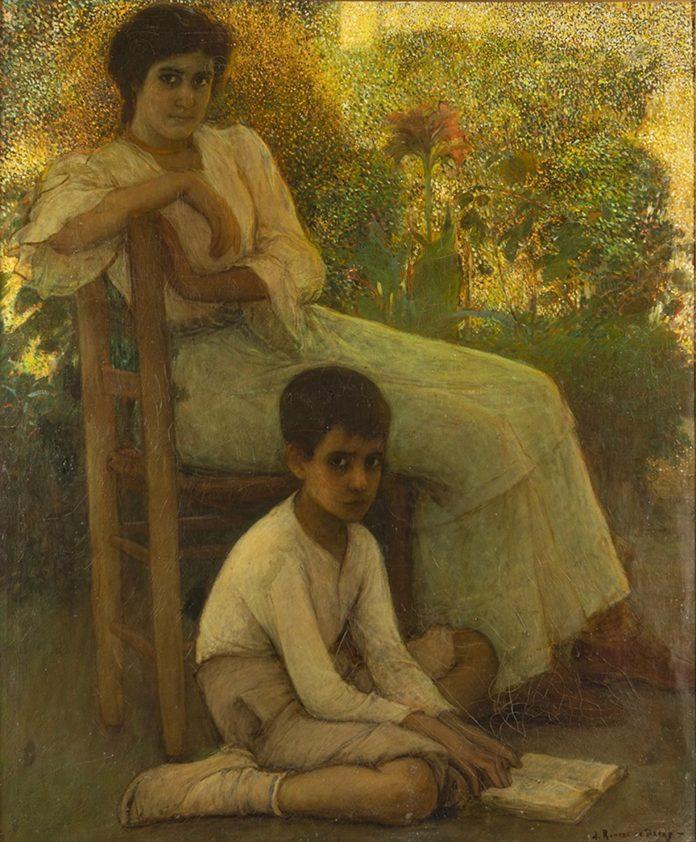'Aprendiendo A Leer', Pintura De Julio Romero De Torres