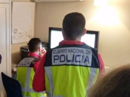 Agentes del grupo de Ciberdelincuencia de la Policía Nacional