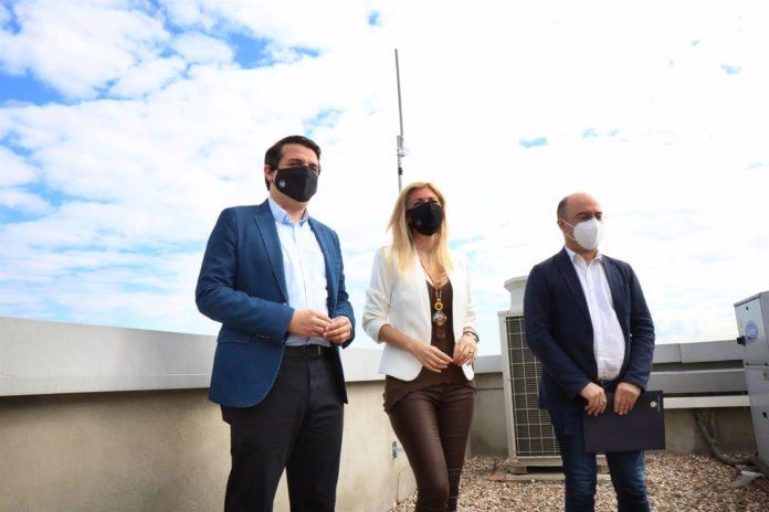 José María Bellido con Luis Medina y Lourdes Morales