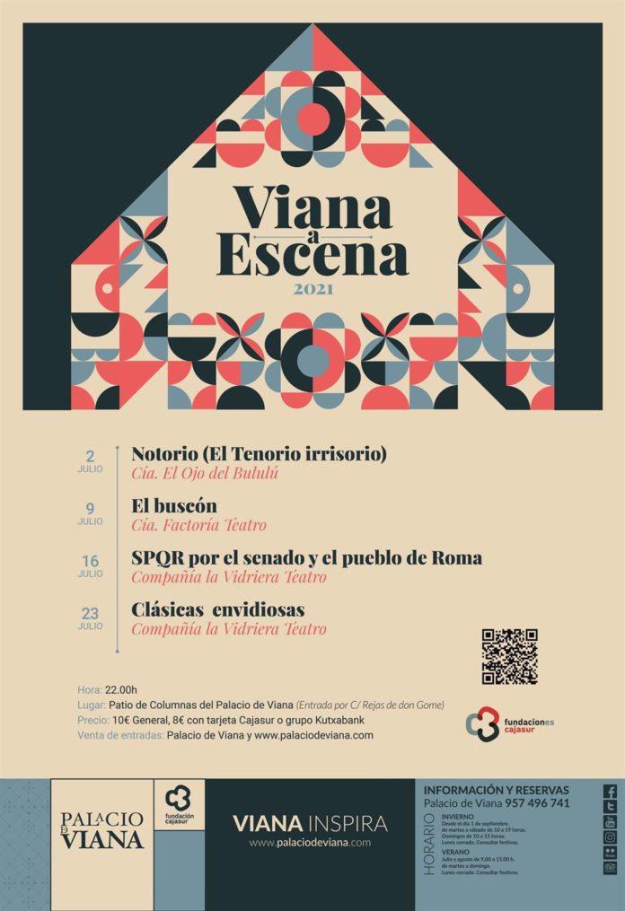 Cartel del ciclo teatral 'Viana a Escena'