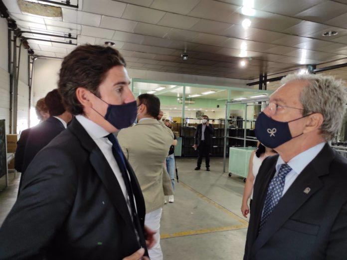 Rogelio Velasco y el consejero delegado de Silbon, Pablo López
